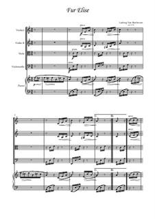 К Элизе, WoO 59: For quintet by Людвиг ван Бетховен