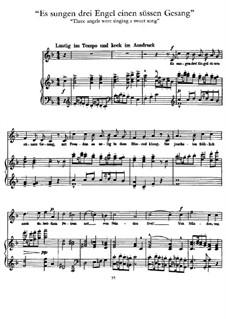 Волшебный рог мальчика: Три ангела пели, для голоса и фортепиано by Густав Малер