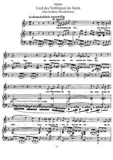 Волшебный рог мальчика: Песня узника в башне, для голоса и фортепиано by Густав Малер