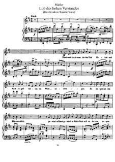 Волшебный рог мальчика: Похвала знатока, для голоса и фортепиано by Густав Малер