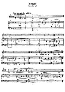 Волшебный рог мальчика: Первозданный свет, для голоса и фортепиано by Густав Малер