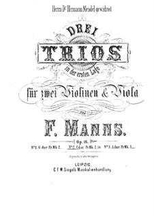 Три струнных трио, Op.16: Трио No.2 до мажор by Фердинанд Маннс