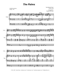 Palm Branches (The Palms): For soprano saxophone and organ by Жан-Батист Фор