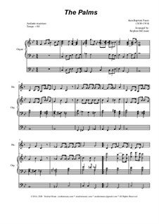 Palm Branches (The Palms): For french horn solo and organ by Жан-Батист Фор