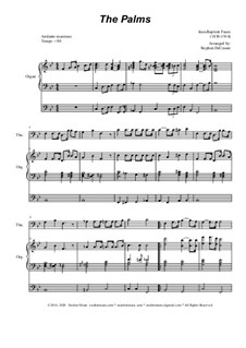 Palm Branches (The Palms): For trombone solo and organ by Жан-Батист Фор
