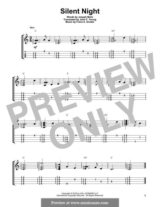Solo instrument version (various): Для укулеле by Франц Ксавьер Грубер