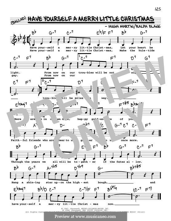 Piano-Vocal version: Мелодия by Hugh Martin, Ralph Blane