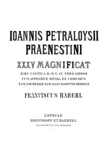 Магнификаты: Книга I by Джованни да Палестрина