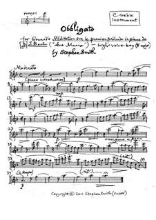Аве Мария: Obbligato (high key) by Иоганн Себастьян Бах, Шарль Гуно