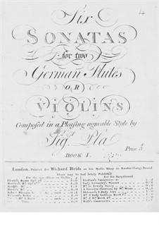 Шесть сонат для двух флейт (или двух скрипок): Шесть сонат для двух флейт (или двух скрипок) by Хосе Пла