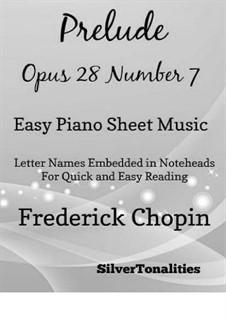 No.7 ля мажор: Для фортепиано (легкий уровень) by Фредерик Шопен