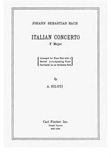 Итальянский концерт, BWV 971: Для фортепиано by Иоганн Себастьян Бах