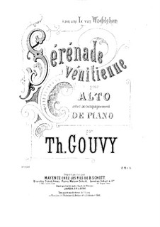 Sérénade vénitienne, for Viola and Piano: Сольная партия by Луи Теодор Гуви