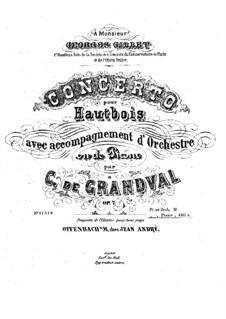 Концерт для гобоя с оркестром, Op.7: Версия для гобоя и фортепиано – Партитура, партия by Мари Грандваль