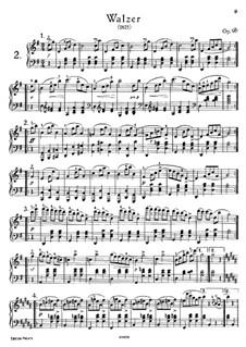Восемнадцать вальсов для фортепиано, Op.9b: Для одного исполнителя by Франц Шуберт