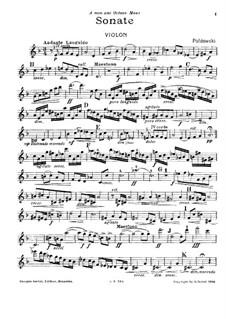 Соната для скрипки и фортепиано: Сольная партия by Poldowski