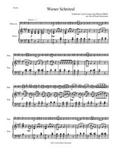 Wiener Schnitzel: Для фагота и фортепиано by folklore, Венцель Мюллер, Йозеф Ланнер