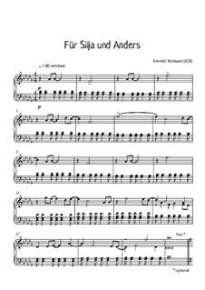 Album für Klavier, Op.23: No.2 Für Silja und Anders by Florian Bergmann, Benedikt Bindewald