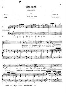 Серенада: Клавир с вокальной партией (фа мажор) by Шарль Гуно