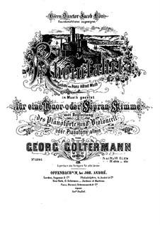 Rheinfahrt für Stimme, Cello und Klavier, Op.70: Rheinfahrt für Stimme, Cello und Klavier by Георг Гольтерманн