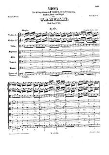 Месса No.3 до мажор 'Dominicus', K.66: Месса No.3 до мажор 'Dominicus' by Вольфганг Амадей Моцарт
