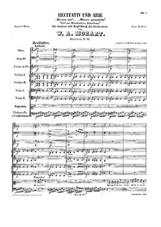Misero me, K.77: Misero me by Вольфганг Амадей Моцарт