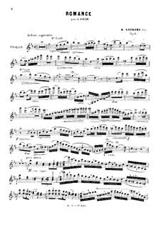 Романс для скрипки и фортепиано, Op.9: Сольная партия by Александр Луиджини