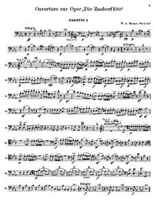 Увертюра: Партия первого фагота by Вольфганг Амадей Моцарт