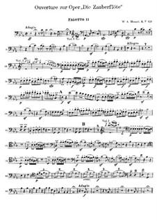 Увертюра: Партия второго фагота by Вольфганг Амадей Моцарт