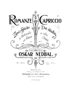 Две пьесы для виолончели и фортепиано, Op.12: No.2 Каприччио by Оскар Недбал