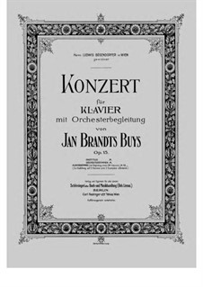Концерт для фортепиано с оркестром, Op.15: Аранжировка для 2 фортепиано в 4 руки by Ян Брандс-Бёйс
