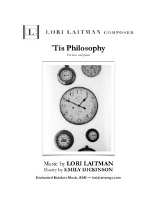 'Tis Philosophy: For bass and piano (priced for two copies) by Lori Laitman