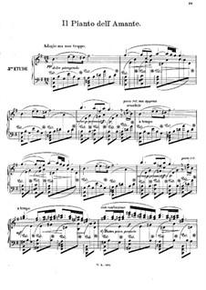 Двенадцать романсов в форме этюдов для фортепиано, Op.8: No.5 Il Pianto dell' Amante by Иоахим Рафф
