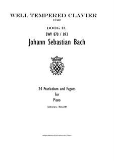 Complete, BWV 870-893: Для фортепиано by Иоганн Себастьян Бах