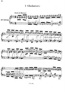Двенадцать романсов в форме этюдов для фортепиано, Op.8: No.9 I Gladiatori by Иоахим Рафф