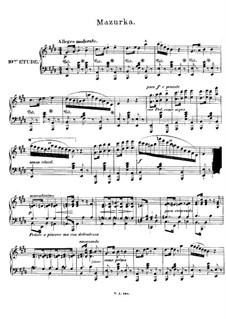 Двенадцать романсов в форме этюдов для фортепиано, Op.8: No.10 Мазурка by Иоахим Рафф