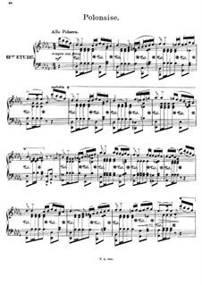 Двенадцать романсов в форме этюдов для фортепиано, Op.8: No.12 Полонез by Иоахим Рафф