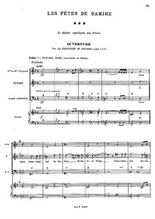 Les fêtes de Ramire (The Celebrations of Ramiro), RCT 40: Selected Themes by Жан-Филипп Рамо