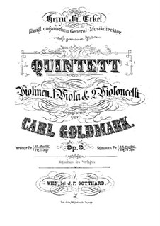 Струнный квинтет ля минор, Op.9: Партитура by Карл Голдмарк