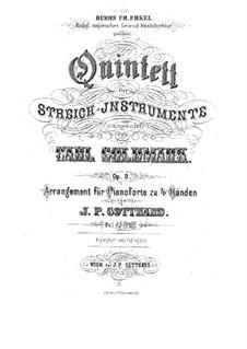 Струнный квинтет ля минор, Op.9: Для фортепиано в 4 руки by Карл Голдмарк