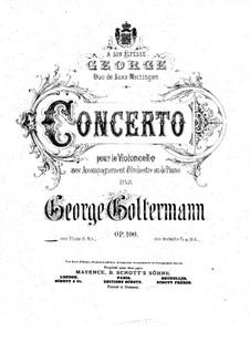 Концерт для виолончели с оркестром No.6 ре мажор, Op.100: Версия для виолончели и фортепиано by Георг Гольтерманн
