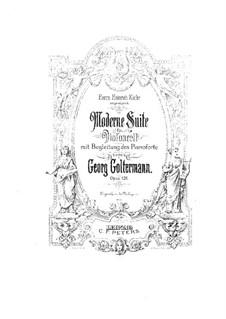 Современная сюита для виолончели и фортепиано, Op.126: Партитура by Георг Гольтерманн