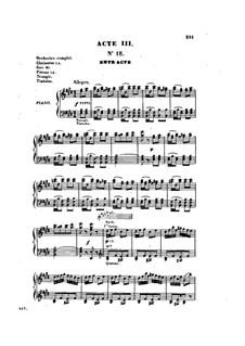 Разбойники: Акт III, для голосов и фортепиано by Жак Оффенбах