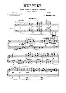 Вертер: Аранжировка для голосов и фортепиано by Жюль Массне