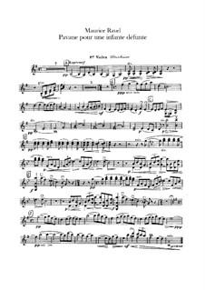 Павана на смерть инфанты, M.19: Для оркестра – партии первой и второй скрипок by Морис Равель