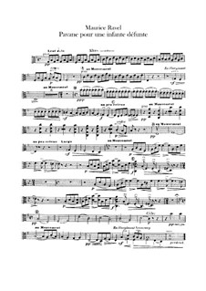 Павана на смерть инфанты, M.19: Для оркестра – партия альта by Морис Равель