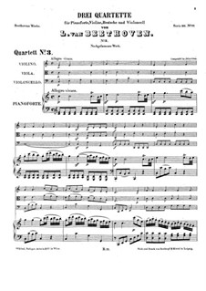 Три фортепианных квартета, WoO 36: Квартет No.3 до мажор by Людвиг ван Бетховен