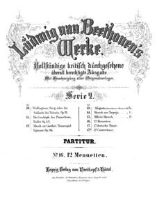 Двенадцать менуэтов, WoO 7: Партитура by Людвиг ван Бетховен