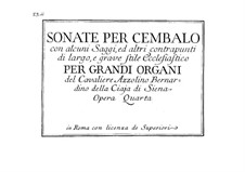 Шесть сонат для клавесина, Op.4: Шесть сонат для клавесина by Azzolino Bernardino Della Ciaja