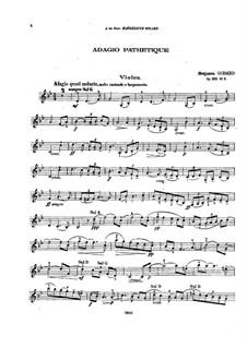 Патетическое адажио для скрипки и фортепиано, Op.128 No.3: Сольная партия by Бенжамин Годар